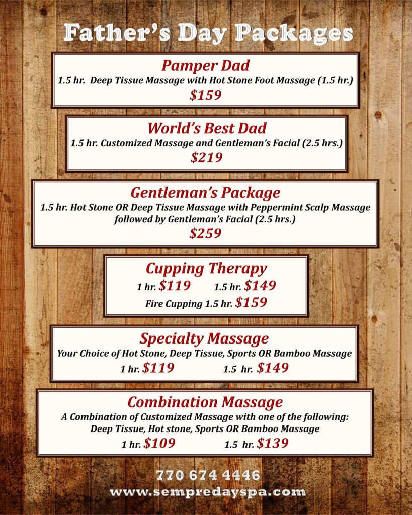 Fathers-Day-Spa-Specials-Johns-Creek-2018